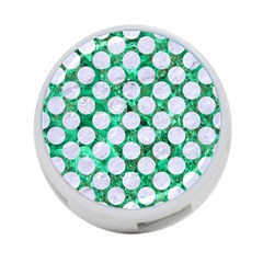 Circles2 White Marble & Green Marble 4 Port Usb Hub (one Side)