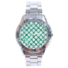 Circles2 White Marble & Green Marble Stainless Steel Analogue Watch