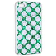 Circles2 White Marble & Green Marble Apple Iphone 4/4s Seamless Case (white) by trendistuff