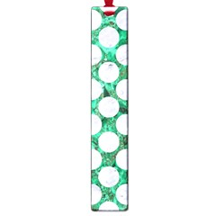 Circles2 White Marble & Green Marble Large Book Marks
