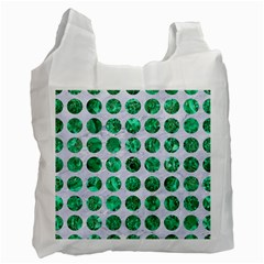 Circles1 White Marble & Green Marble (r) Recycle Bag (two Side)
