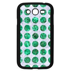 Circles1 White Marble & Green Marble (r) Samsung Galaxy Grand Duos I9082 Case (black)