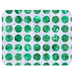 Circles1 White Marble & Green Marble (r) Double Sided Flano Blanket (medium)