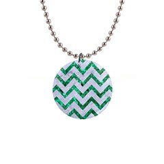 Chevron9 White Marble & Green Marble (r) Button Necklaces