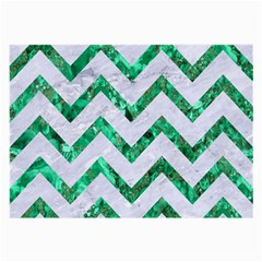 Chevron9 White Marble & Green Marble (r) Large Glasses Cloth