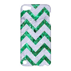 Chevron9 White Marble & Green Marble (r) Apple Ipod Touch 5 Hardshell Case