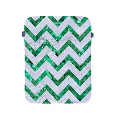 Chevron9 White Marble & Green Marble (r) Apple Ipad 2/3/4 Protective Soft Cases