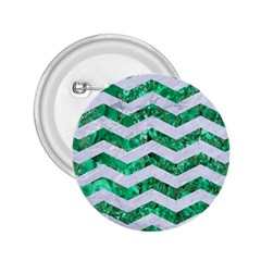 Chevron3 White Marble & Green Marble 2 25  Buttons