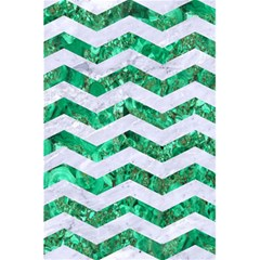 Chevron3 White Marble & Green Marble 5 5  X 8 5  Notebooks