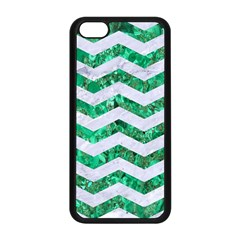 Chevron3 White Marble & Green Marble Apple Iphone 5c Seamless Case (black)