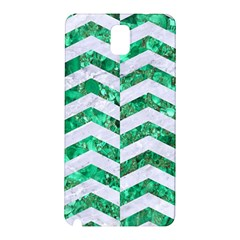 Chevron2 White Marble & Green Marble Samsung Galaxy Note 3 N9005 Hardshell Back Case