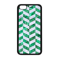 Chevron1 White Marble & Green Marble Apple Iphone 5c Seamless Case (black)