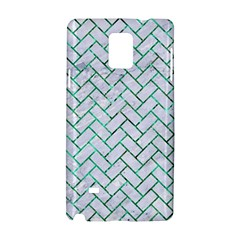 Brick2 White Marble & Green Marble (r) Samsung Galaxy Note 4 Hardshell Case