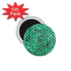 Brick2 White Marble & Green Marble 1 75  Magnets (100 Pack)