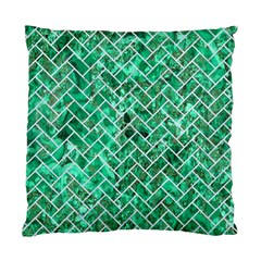 Brick2 White Marble & Green Marble Standard Cushion Case (two Sides)