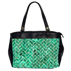 Brick2 White Marble & Green Marble Office Handbags (2 Sides)