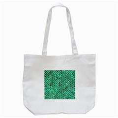Brick2 White Marble & Green Marble Tote Bag (white)