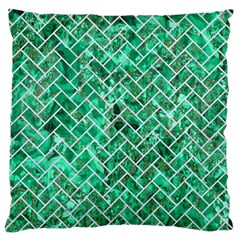 Brick2 White Marble & Green Marble Standard Flano Cushion Case (one Side) by trendistuff