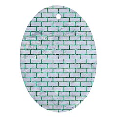 Brick1 White Marble & Green Marble (r) Oval Ornament (two Sides)