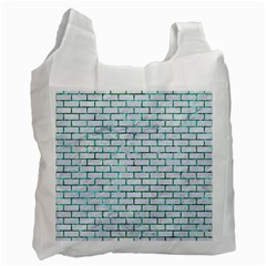 Brick1 White Marble & Green Marble (r) Recycle Bag (one Side)