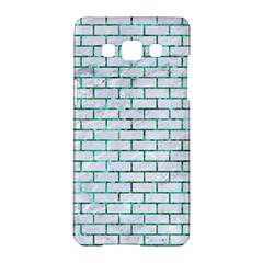 Brick1 White Marble & Green Marble (r) Samsung Galaxy A5 Hardshell Case