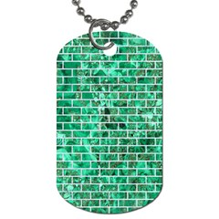 Brick1 White Marble & Green Marble Dog Tag (two Sides)