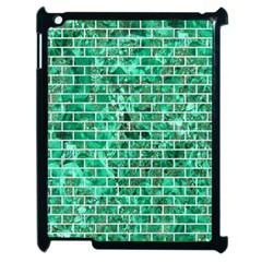 Brick1 White Marble & Green Marble Apple Ipad 2 Case (black) by trendistuff