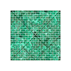 Brick1 White Marble & Green Marble Acrylic Tangram Puzzle (4  X 4 )