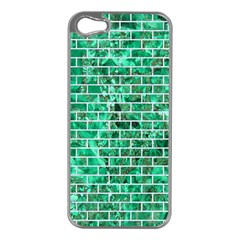 Brick1 White Marble & Green Marble Apple Iphone 5 Case (silver)