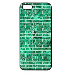 Brick1 White Marble & Green Marble Apple Iphone 5 Seamless Case (black)