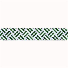 Woven2 White Marble & Green Leather (r) Small Bar Mats by trendistuff