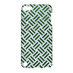 Woven2 White Marble & Green Leather (r) Apple Ipod Touch 5 Hardshell Case