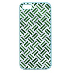 Woven2 White Marble & Green Leather (r) Apple Seamless Iphone 5 Case (color) by trendistuff
