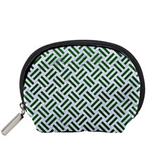 Woven2 White Marble & Green Leather (r) Accessory Pouches (small)