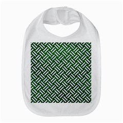 Woven2 White Marble & Green Leather Bib