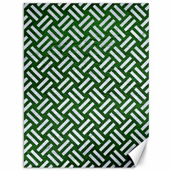 Woven2 White Marble & Green Leather Canvas 36  X 48