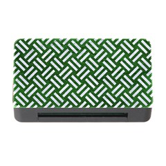 Woven2 White Marble & Green Leather Memory Card Reader With Cf