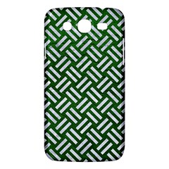 Woven2 White Marble & Green Leather Samsung Galaxy Mega 5 8 I9152 Hardshell Case