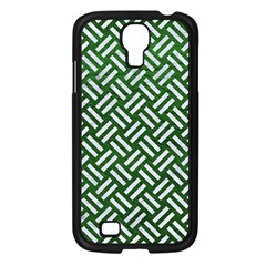 Woven2 White Marble & Green Leather Samsung Galaxy S4 I9500/ I9505 Case (black)