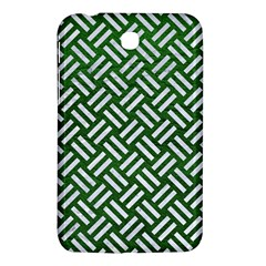 Woven2 White Marble & Green Leather Samsung Galaxy Tab 3 (7 ) P3200 Hardshell Case