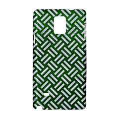 Woven2 White Marble & Green Leather Samsung Galaxy Note 4 Hardshell Case
