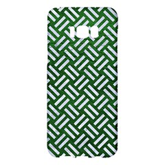 Woven2 White Marble & Green Leather Samsung Galaxy S8 Plus Hardshell Case