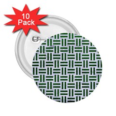 Woven1 White Marble & Green Leather (r) 2 25  Buttons (10 Pack)