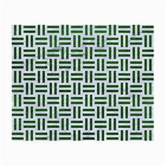 Woven1 White Marble & Green Leather (r) Small Glasses Cloth