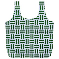 Woven1 White Marble & Green Leather (r) Full Print Recycle Bags (l)