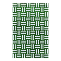 Woven1 White Marble & Green Leather Shower Curtain 48  X 72  (small)
