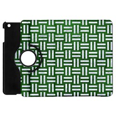 Woven1 White Marble & Green Leather Apple Ipad Mini Flip 360 Case