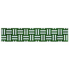 Woven1 White Marble & Green Leather Small Flano Scarf