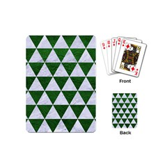 Triangle3 White Marble & Green Leather Playing Cards (mini)