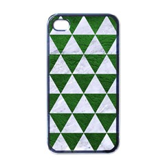 Triangle3 White Marble & Green Leather Apple Iphone 4 Case (black)